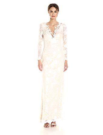 9e339edb76 Tadashi Shoji Women s Long Sleeve Lace Bridal Gown beautygirl dresses  dressesforwomen expensive