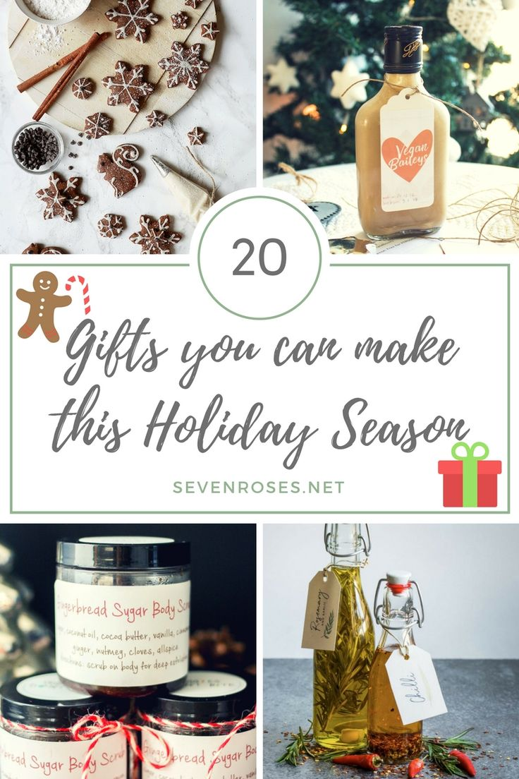 20 Gifts You can Make This Holiday Season