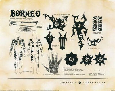 Borneo Traditional Tattooing  is a hand tapping style of tattooing with two sticks, developed by some of the ancient tribes of Borneo. Examp...