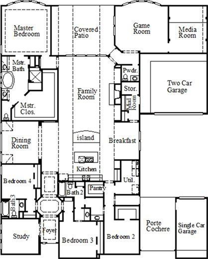 73 best house plans images on pinterest house blueprints for Porte cochere house plans
