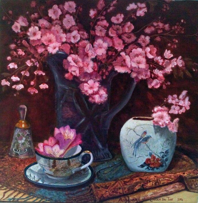Early spring blossoms(oil): Annemarié van Lingen du Toit