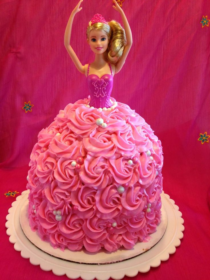 Birthday Cake Designs Barbie : 25+ best ideas about Barbie birthday cake on Pinterest ...