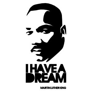 Autocollant citation i have a dream0001