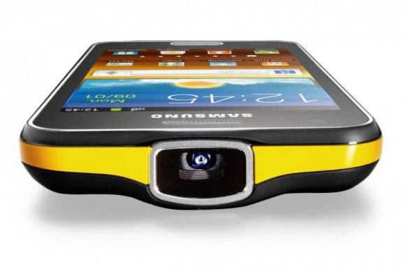 Samsung Galaxy Beam. Smartphone with a Pico projector.