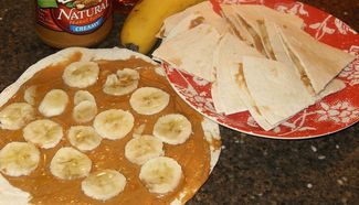Peanut Butter and Banana Quesadillas | Cooking & Baking | Pinterest