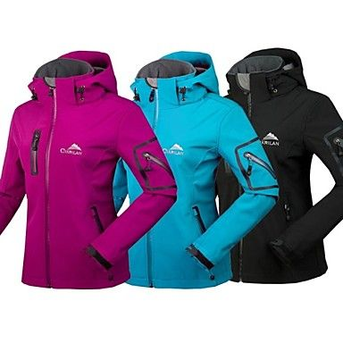 cikrilan® nieuwe vrouwen hooded waterdichte softshell jack wandelen reizen kamperen skiën outdoor jas winterjassen – EUR € 45.45