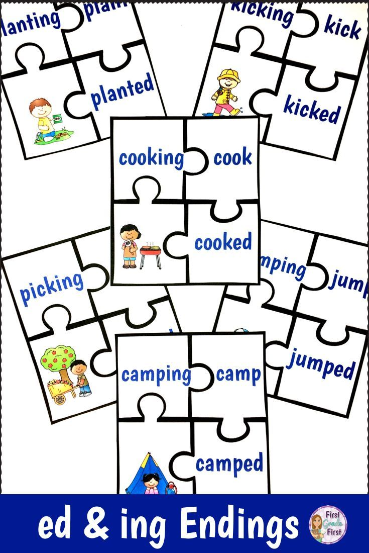 Reading Centers And Worksheets To Practice Inflectional Endings Ed And Ing Provides Simple P Inflectional Endings Art Therapy Activities Elementary Reading [ 1100 x 735 Pixel ]