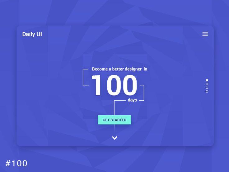 DailyUI design - Redesign DailyUI Landing Page