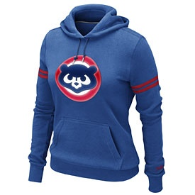 Chicago Cubs Ladies Cooperstown Pullover Hooded Sweatshirt..love