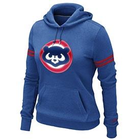 Chicago Cubs Ladies Cooperstown Pullover Hooded Sweatshirt..love