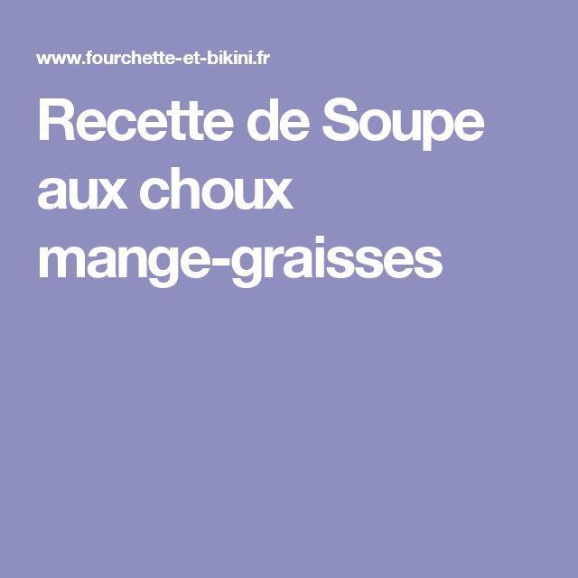 Recette de Soupe aux choux mange-graisses