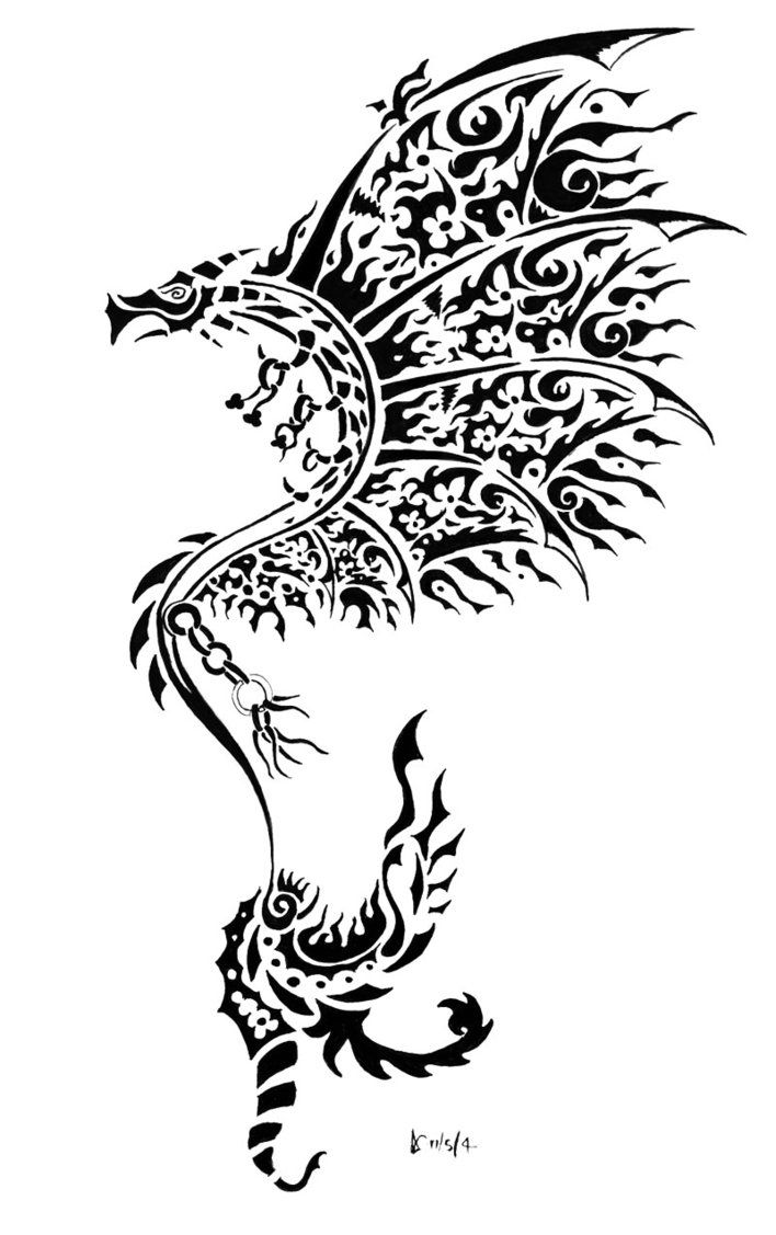 Line Drawing Dragon Tattoo : Dragon tattoo tattoos glass etching