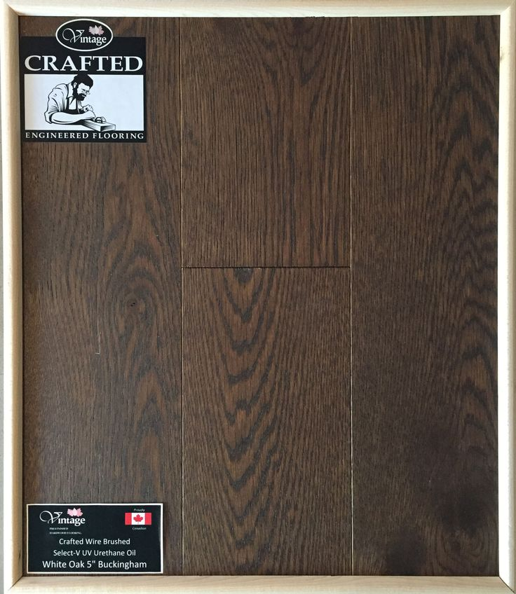 "Included Engineered Hardwood Flooring - White Oak 5"" Buckingham"