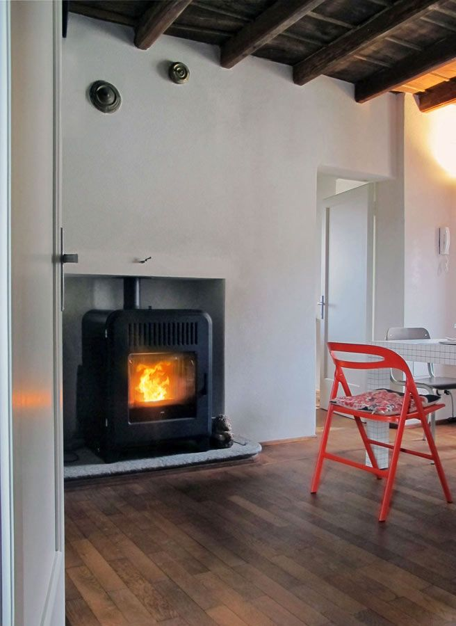Pellet stove CUTE by MCZ - house of the stylist Alessandra Monti