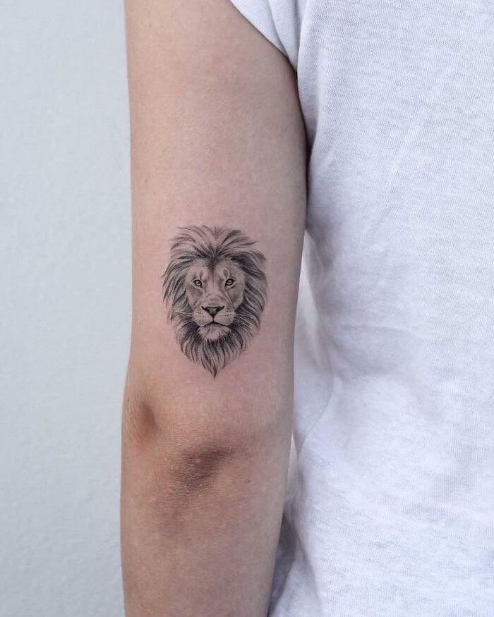 24 Small Lion Tattoo Designs And Ideas Petpress In 2020 Small Lion Tattoo Lion Tattoo Design Small Lion Tattoo For Women