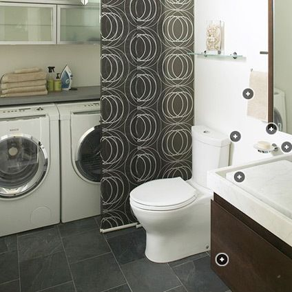 Images On Integrating Laundry Facilities Into the Bathroom