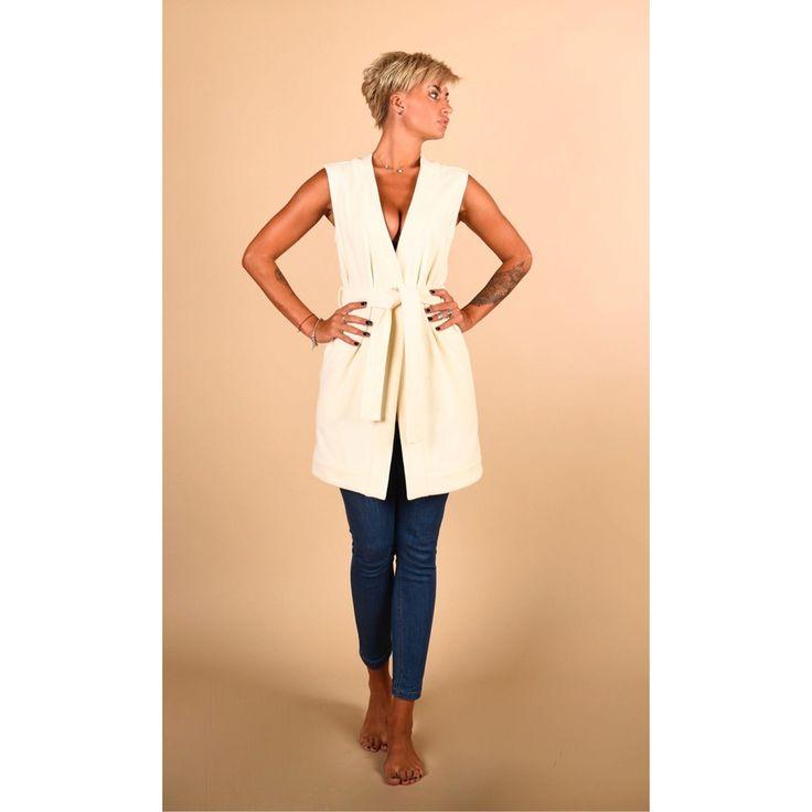 Wool Waistcoat With Belt (Women's)