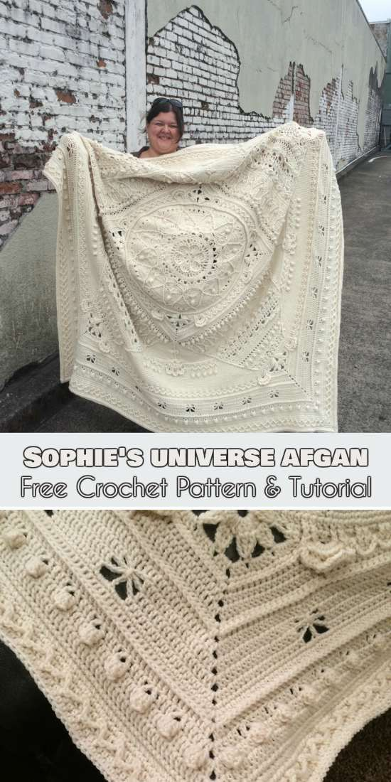 Sophie's Universe Afghan [Free Crochet Pattern and Tutorial]