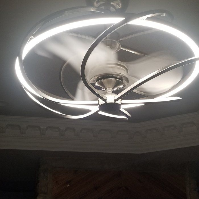 27 Quot Bucholz Modern Chandelier Ceiling Fan With Remote