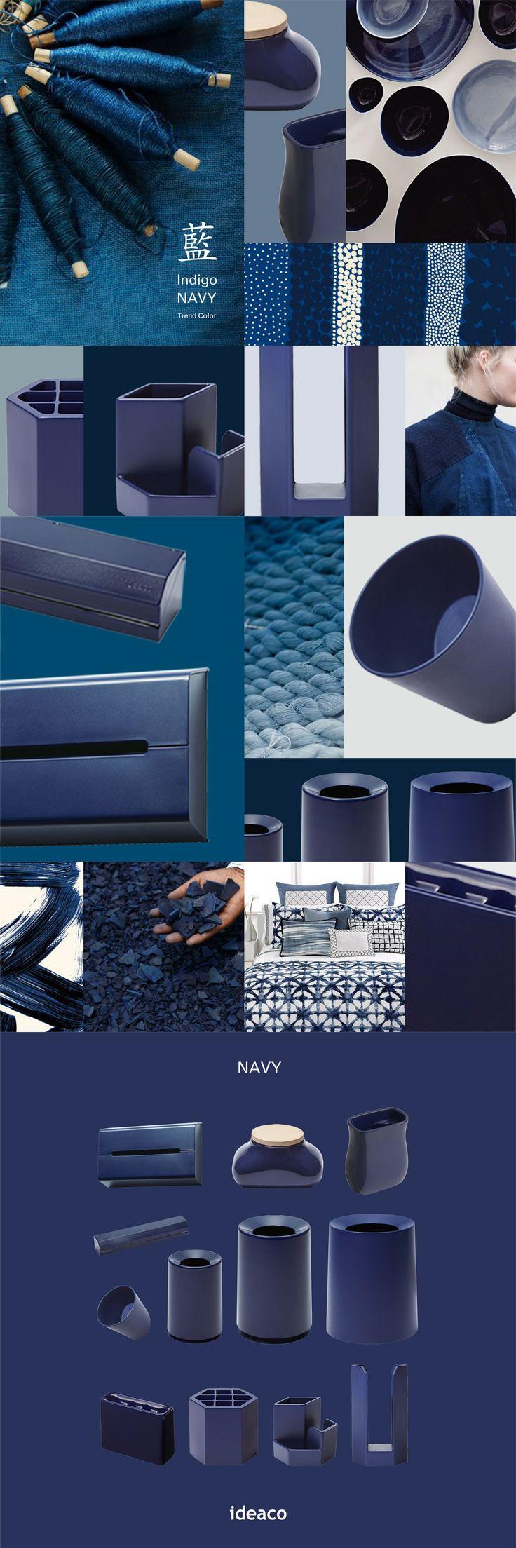 藍  indigo navy / trend color ideaco