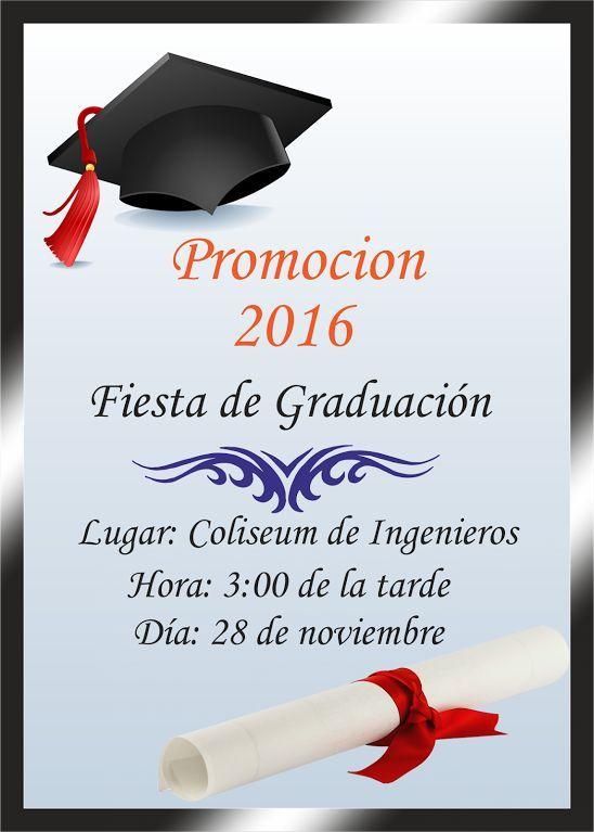 resultado de imagen para tarjetas de invitacion de graduacion en