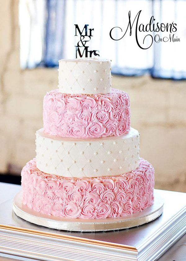 dusty rose pink wedding cakes