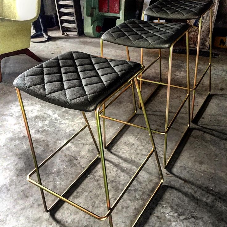 Check out these babies!! Gold on gold . Don't you love a bit of diamond stitching. The upholstery has a gold sheen as well to add the opulent edge. #custom #customize #barstool #stool #designer #design #melbournestyle #australiandesign #interiordesign #cafe #resturant #supportlocal #bespoke #customade