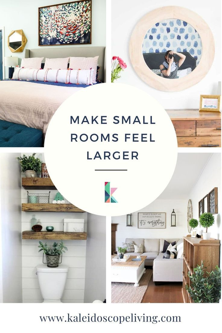 How To Make A Small Room Look Bigger 7 Awesome Tricks Kaleidoscope Living Living Room Decor On A Budget Small Room Ideas On A Budget Small House Decorating