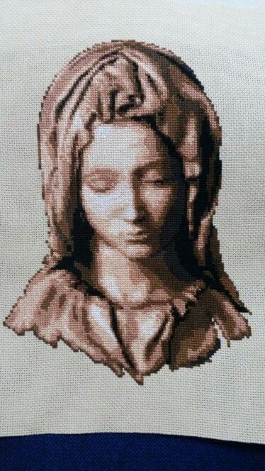 Cross stitch haft krzyżykowy Pieta