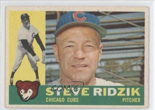 Steve Ridzik COMC REVIEWED Good to VG-EX Chicago Cubs (Baseball Card) 1960 Topps #489 by Topps. $4.25. 1960 Topps #489 - Steve Ridzik COMC REVIEWED Good to VG-EX