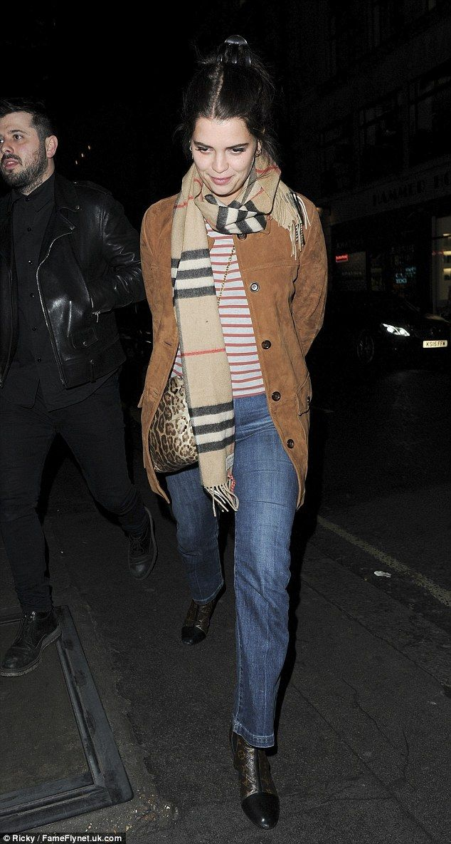 Winter chic: Pixie Geldof cut a casual figure as she supported close friend Nick Grimshaw ...