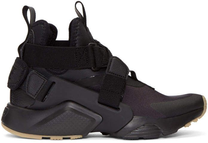 finest selection 6cf1d 5e105 Black Air Huarache City Sneakers #crossing#elasticized ...