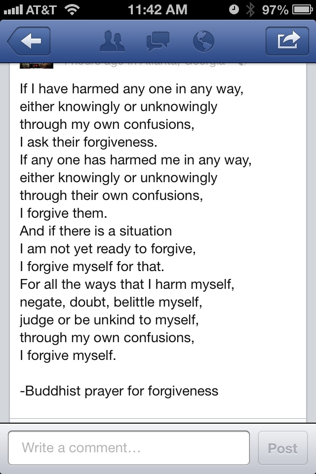 Buddhist prayer for forgiveness