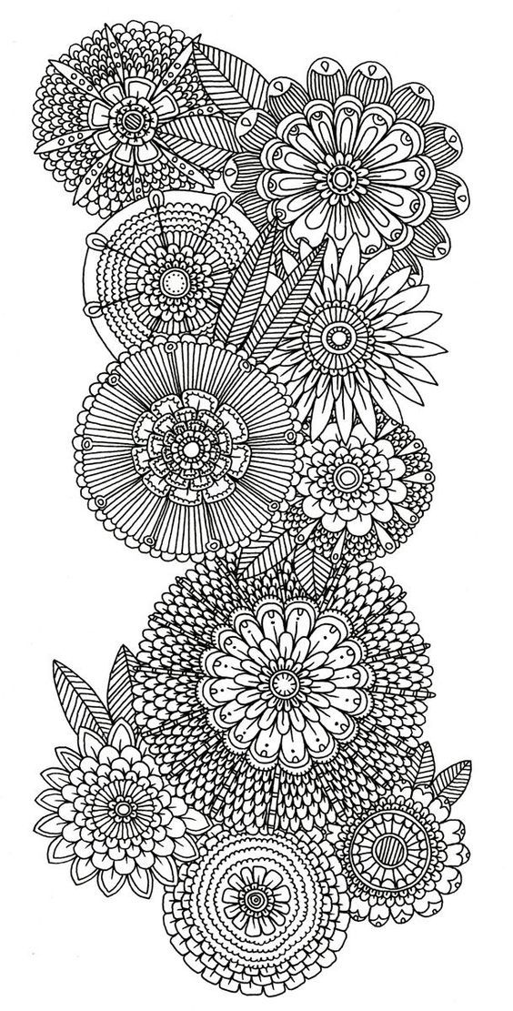 abstract doodle flower Coloring pages colouring adult ...