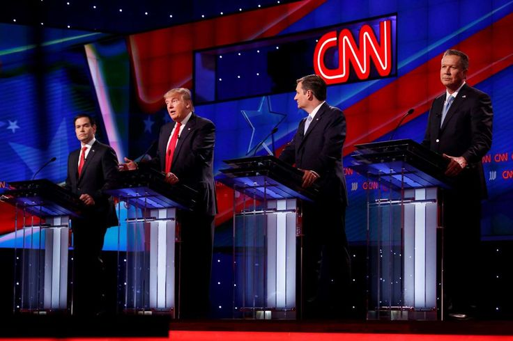 2016: A year in politics like no other: Janaury 1, 2017  -     From left, Republican primary candidates Sen. Marco Rubio, Donald Trump, Ted Cruz and John Kasich during the GOP presidential primary debate at the University of Miamis Bank United Center in Coral Gables, Fla., on Thursday, March 10, 2016. (Carolyn Cole/Los Angeles Times/TNS)