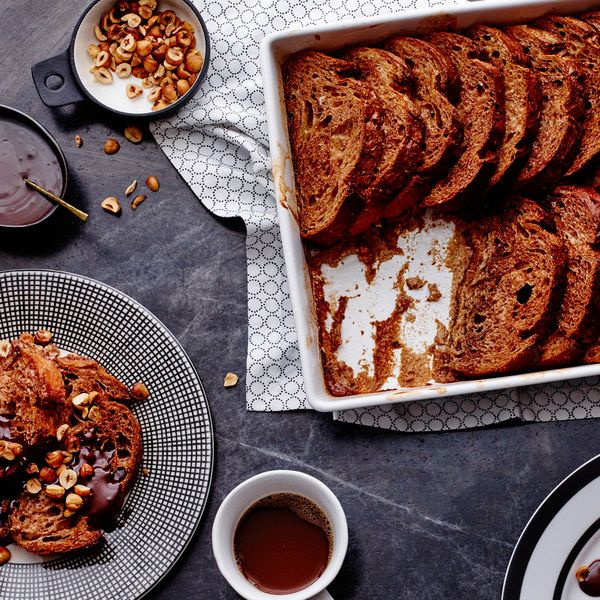 Hot Chocolate Baked French Toast