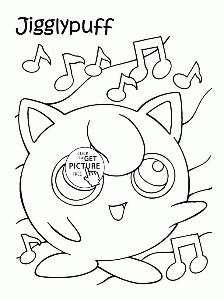Pokemon jigglypuff coloring pages for kids pokemon characters printables free wuppsy com