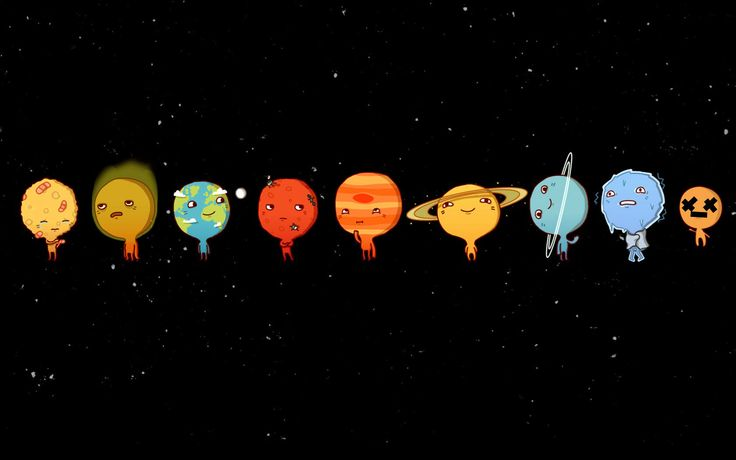 row planets in space - photo #36