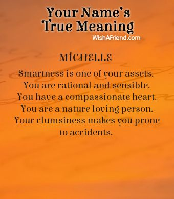 Name true meaning of Michelle