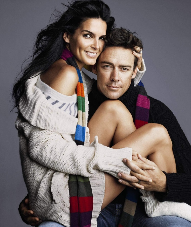 Angie Harmon and hubby.