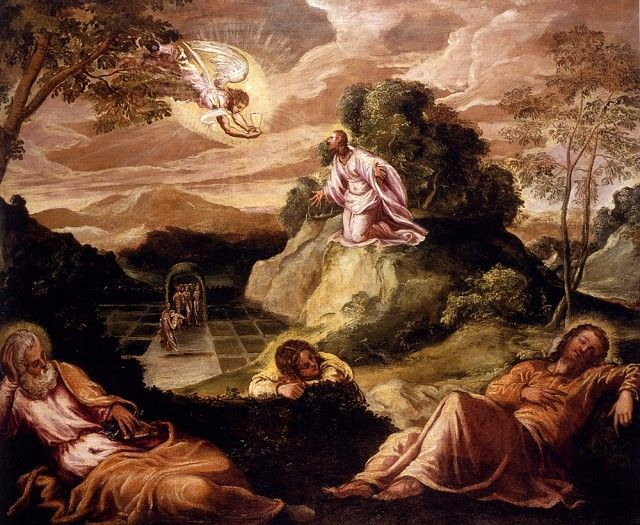 Tintoretto Agony In The Garden Rosary 1st Sorrowful Mystery The Agony In The Garden