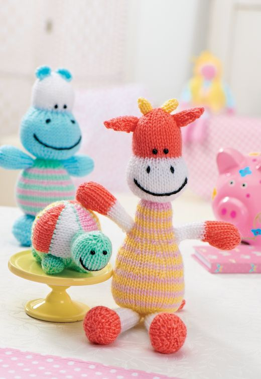 Giraffe - Free Knitting Pattern here: http://www.crafts-beautiful.com/projects/knitted-giraffe-pattern