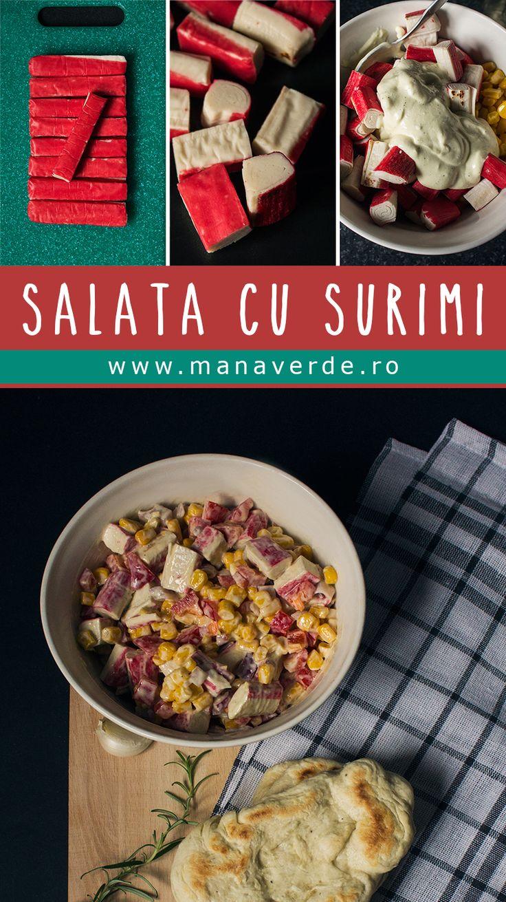 Salata cu surimi O salata simpla, si usor de digerat