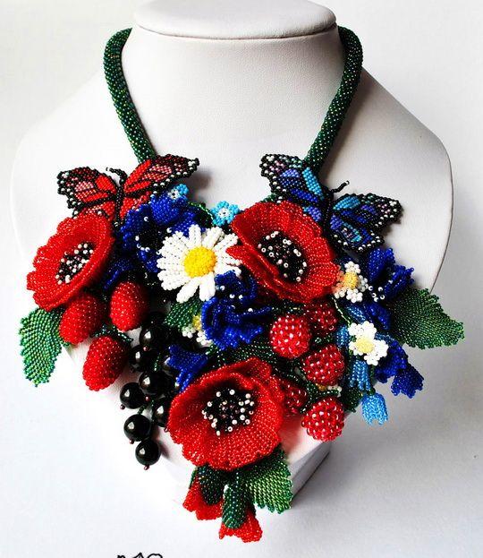 Beautiful jewelry with Poppy elements   Beads Magic