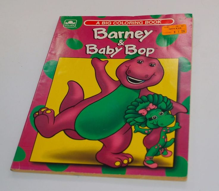 Vintage Barney And Baby Bop Coloring Book 0307030334 Golden