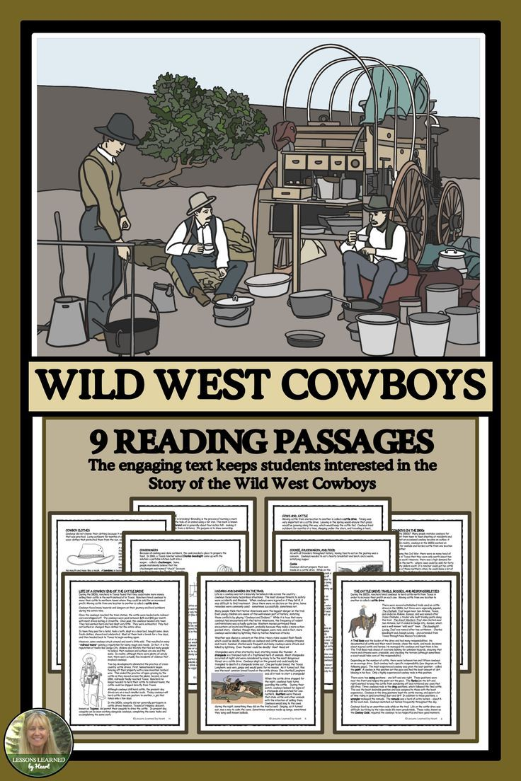 Your Students Will Enjoy The 9 Engaging Reading Passages About Wild West Cowboys And The Cattle Drive Exten Reading Passages Classroom Activities Cattle Drive [ 1104 x 736 Pixel ]