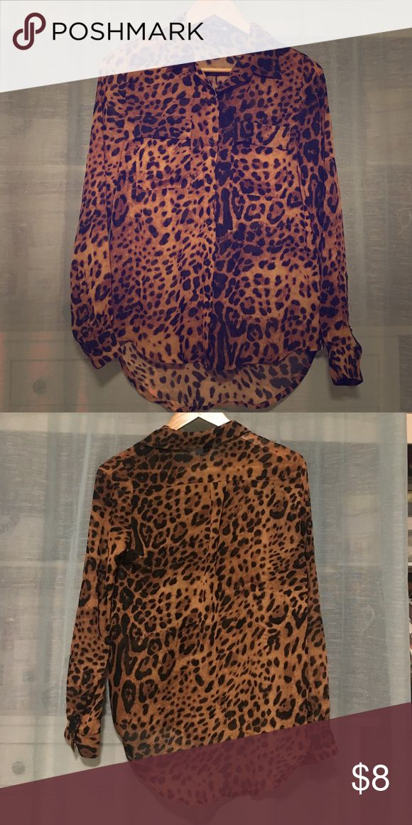 Leopard shirt Leopard shirt. Great condition Forever 21 Tops Blouses