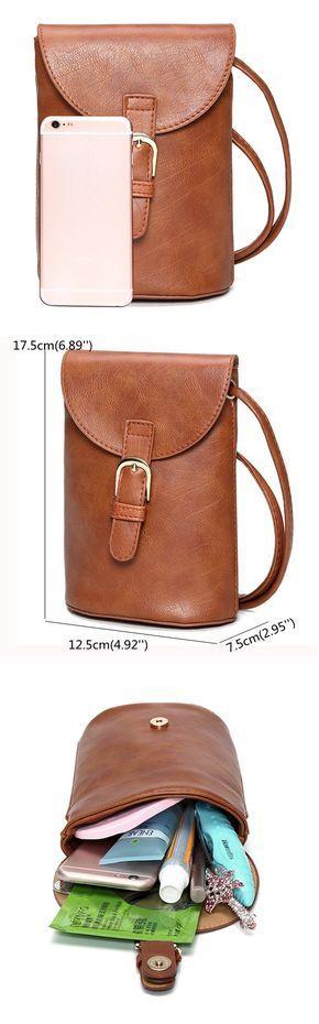 US$9.30  Woman PU Bucket Bag Little Phone Bag Leisure Little Change Bag For Smartphone Iphone Samsung