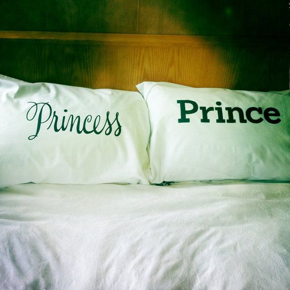 Princess & Prince or is he a Frog pillowcase set by dustysandlulu, $40.00