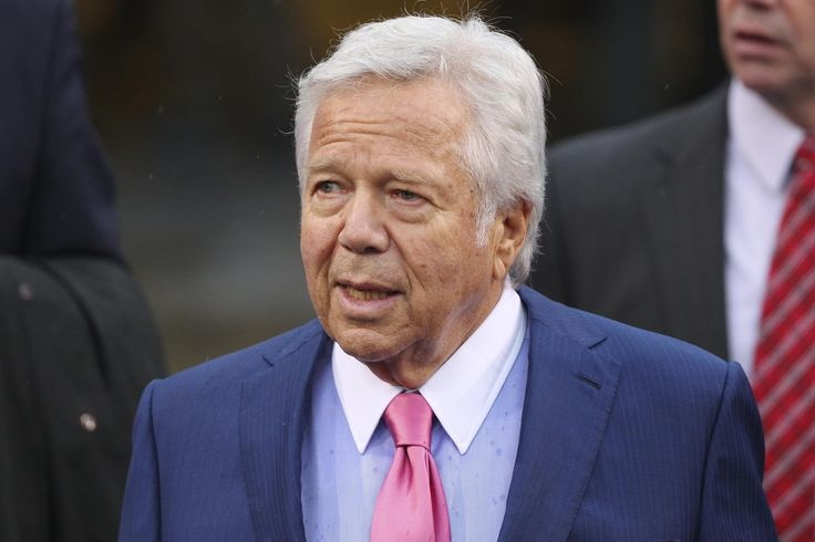 Patriots vs. Bills:  October 30, 2016  -  41-25, Patriots  -    New England Patriots owner Robert Kraft walks toward the field before an NFL football game against the Buffalo  Bills Sunday, Oct. 30, 2016, in Orchard Park, N.Y. (AP Photo/Bill Wippert)  AP, BILL WIPPERT